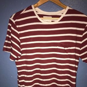 On the byas stripped T-shirt